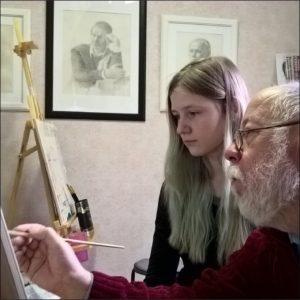 Художник Владимир Алексеев на занятиях